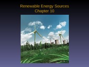 Chapter 10 Renewable Energy Sources