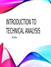 Introduction to Technical Analysis [Autosaved]