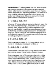 Determinants of Exchange rates notes