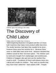 The Discovery of Child Labor