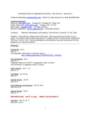 2011Winter syllabus for Pol Sci 21A