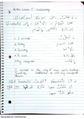 arabic lesson 5 class notes
