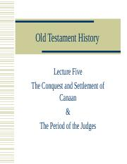 Lecture 5 Conquest of Canaan and Period of the Judges