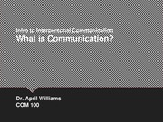 What is Communication Presentation
