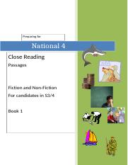 N4 Close Reading Hwk Booklet - PASSAGES.doc