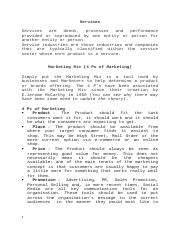 Services Marketing  Full Notes.docx
