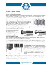 Article - Screw Threads Design