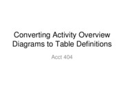 L07 Converting Activity Overview Diagrams to Table Definitions