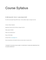 Syllabus and Schedule FIL 3854
