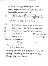 Lecture on the Heat Equation in a Rectangle