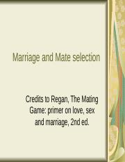 Marriage and Mate selectionfinal.ppt