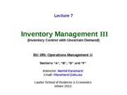 Lecture 7 - Inventory Management 3 (updated)