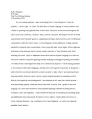 Cultural Analysis Essay Proposal