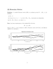 9 Brownian Motion