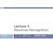 Lecture 5 Revenue Recognition
