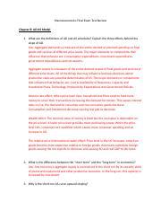 macroeconomics final exam review Ace the ap macroeconomics exam  sample decks: exam #1 vocab, exam #1  specific, exam #2 vocab  sample decks: midterm definitions review.