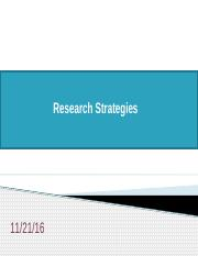 Lecture 9a - Research Strategies.pptx