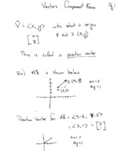 Vector Component Additional Notes