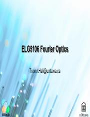 ELG5106 Fourier Optics Ch6 Properties