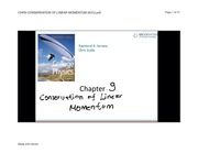 CHP9-CONSERVATION OF LINEAR MOMENTUM-IKCU