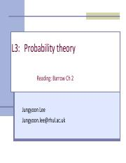 L3 - Probability theory