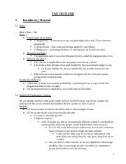Coverdale - Tax Outline (1)