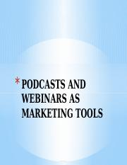 podcasts and webinars.pptx