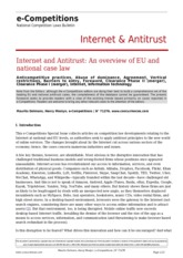 Internet & Antitrust - An Overview of EU and National Case Law