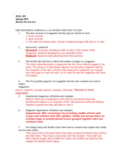 MAG 408 Test 2 Review Sheet
