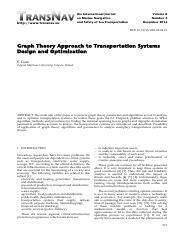 Graph Theory Approach to Transportation Systems Design and Optimization.pdf