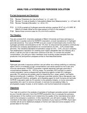 6. Titrimetric Analysis of Hydrogen Peroxide Solutions - 2013
