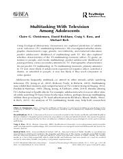 Multitasking With Television Among Adolescents..pdf