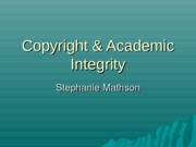 Copyright & Academic Integrity(3)