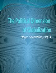 "GEA - Steger ""The Political Dimension of Globalization"".pptx"