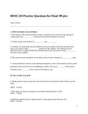 Practice Questions for Final