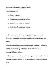 End User computing systems Notes