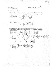 Exam C Fall 2010 Solutions on Calculus