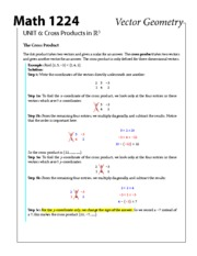 1224-unit6 Cross Products in R3