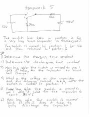 homework 5-RC charging and discharging