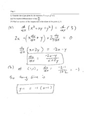 Exam 2 Solution Spring 2008 on Calculus and Analytic Geometry I