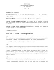 ECON 222 Fall 2010 Midterm Exam Solutions