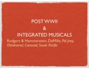 Post WWII and Integrated Musicals Lecture