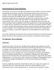 Resocialization & Total Institutions Research Paper Starter - eNotes