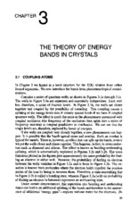 chapter 3 THE THEORY OF ENERGY BANDS IN CRYSTALS