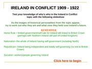 Ireland in conflict personalities of 1909-1922