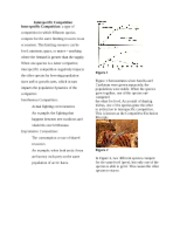 Interspecific Competition handout