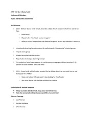 AAST 502 Test 1 Study Guide
