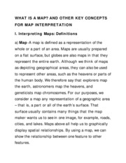 WHAT IS A MAP & OTHER KEY CONCEPT OF INTERPRETATION