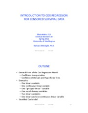 11. Cox regression introduction