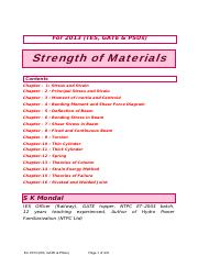 Strength of Materials by S K Mondal T&Q